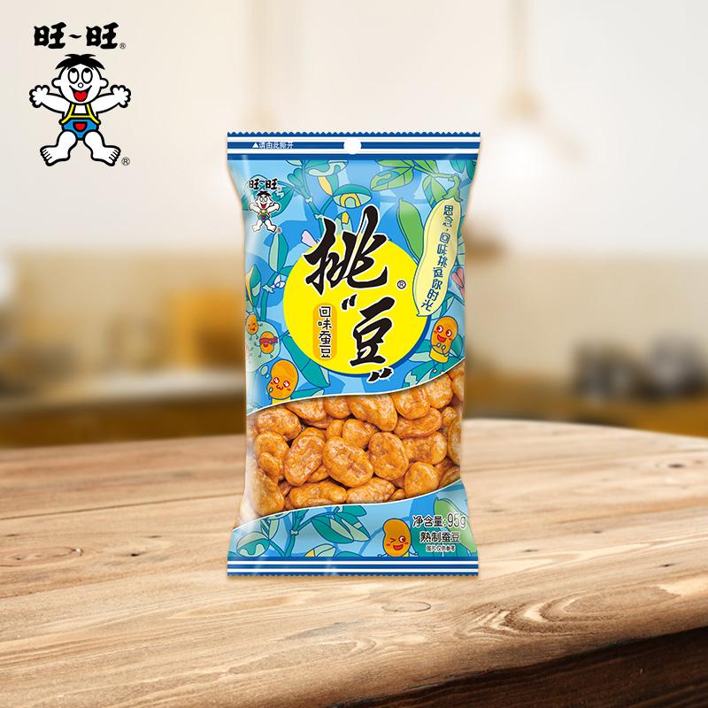 旺旺挑豆系列蚕豆海苔花生4包休闲零食豆类坚果炒货下酒菜大包装*