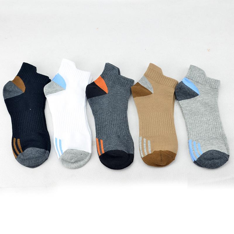 春夏季袜子男士短袜纯棉潮流吸汗防臭全棉船袜矮腰低帮短筒运动袜