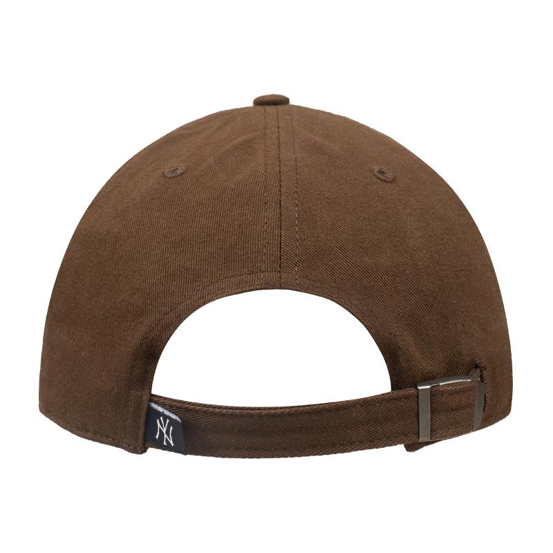 47咖啡棕色帽子女mlb软顶小标ny棒球帽男la夏季防晒遮阳ins鸭舌帽