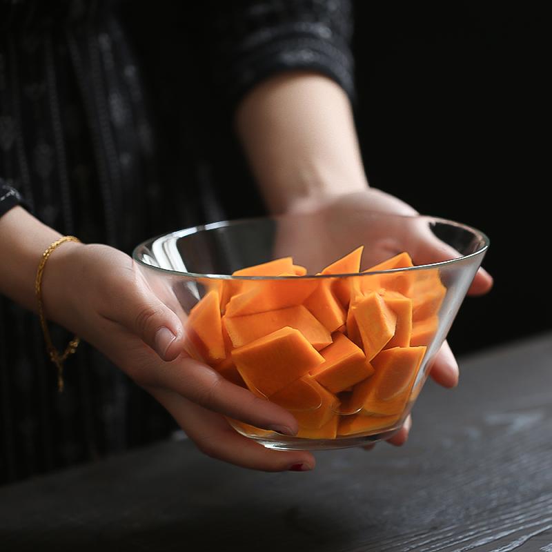 2只价 欧式法文字母沙拉碗小奢华简约玻璃甜品碗透明创意家用日式