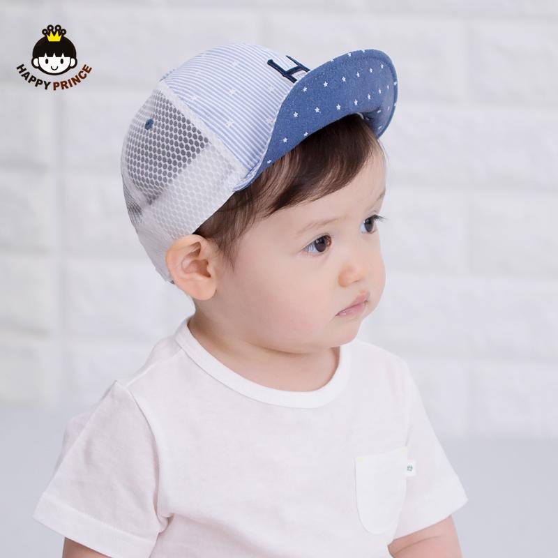 夏季婴幼儿0-3-6-12个月遮阳凉帽网眼透气太阳帽大檐防晒鸭舌帽子