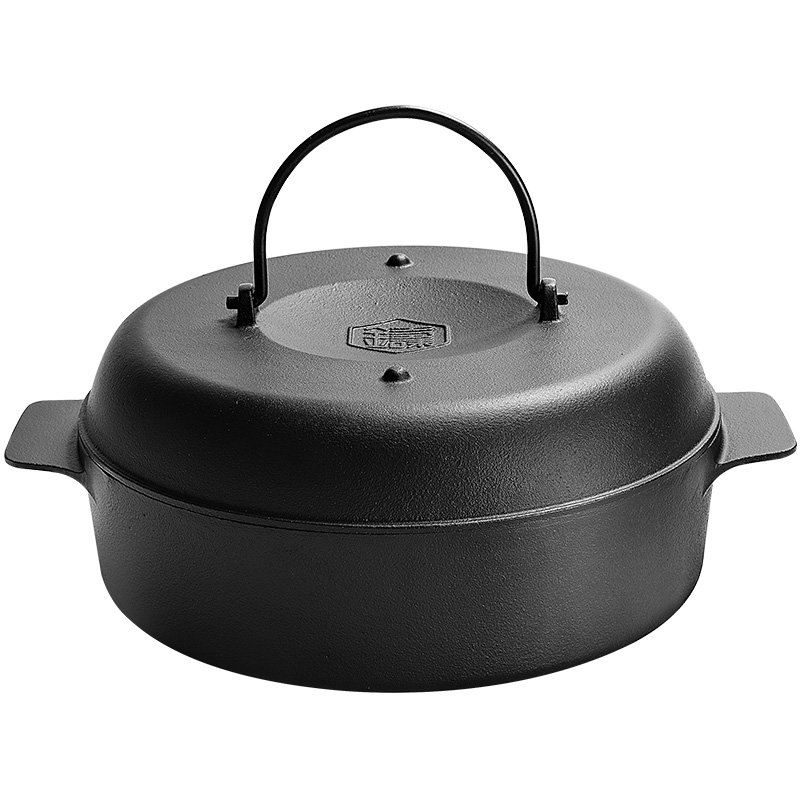 铸味铸铁烤红薯锅烤炉22CM烤地瓜机家用玉米土豆多功能烤红薯神器