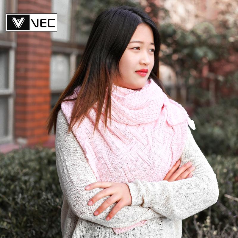 2018围巾韩版女秋冬季百搭加厚保暖冬天纯色格子披肩围脖两用