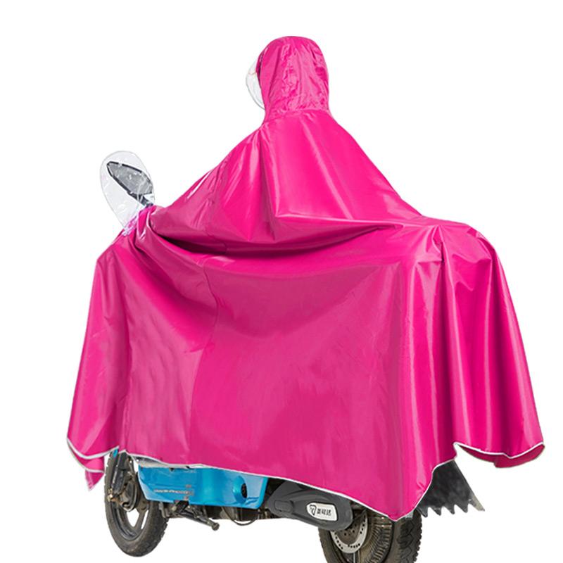 旺雨摩托车电动车雨衣成人单人电瓶车透明帽檐加大加厚男女士雨披