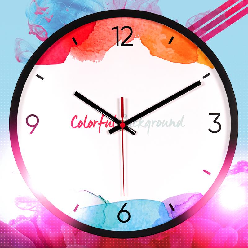 静音时钟表挂钟客厅现代简约大气个性创意时尚家用卧室挂表墙钟表