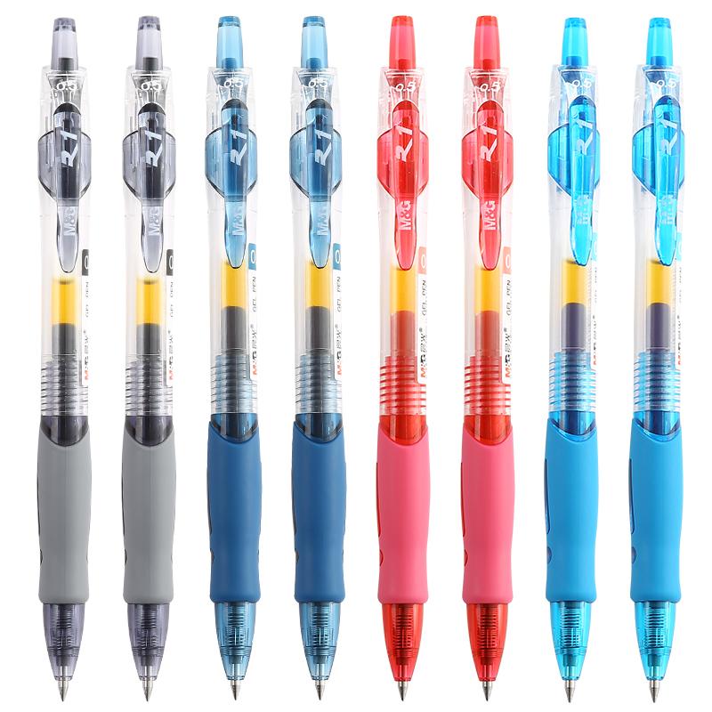 晨光文具中性笔0.5可按动签字笔12支K35会议笔黑红蓝水笔GP1008学生学习办公用笔Q7晨光优品包邮