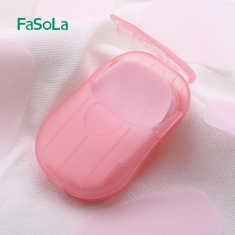 包邮FaSoLa旅行便携肥皂纸一次性迷你香皂纸肥皂片洗手清洁香皂片
