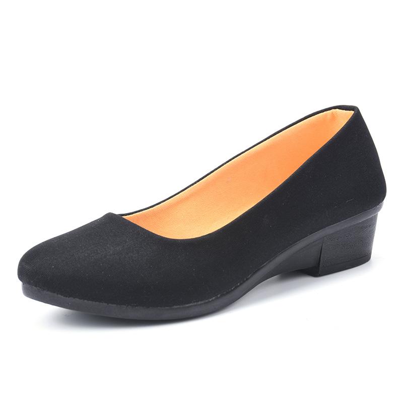 老北京布鞋旗舰店官方豆豆防滑小黑鞋女餐厅上班工作正品软底鞋子