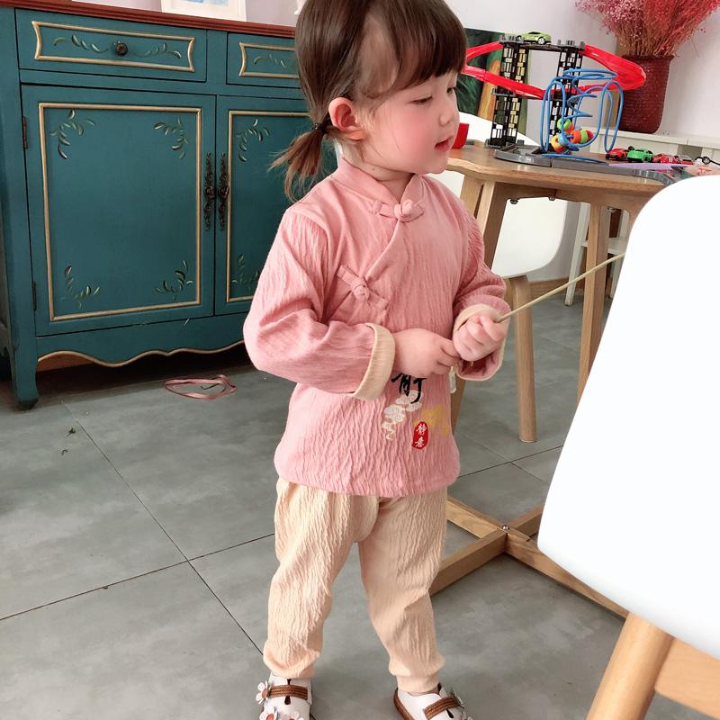 人之初婴儿衣服套装纯棉童装儿童唐装宝宝汉服女童春装男童空调服