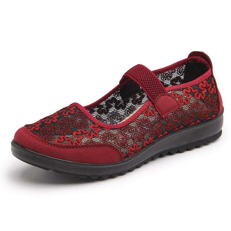 老北京布鞋旗舰店官方50岁女士穿的凉鞋女式老年人女妈妈中年人鞋