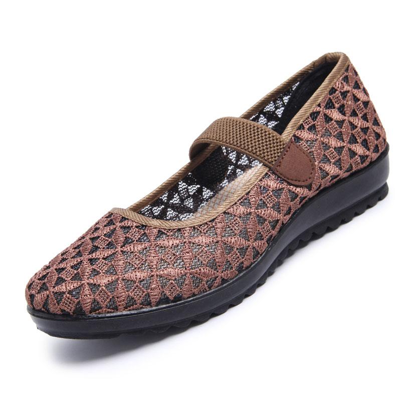 老北京布鞋女老年人老太太鞋子夏平底新款2017防滑软底百搭奶奶鞋