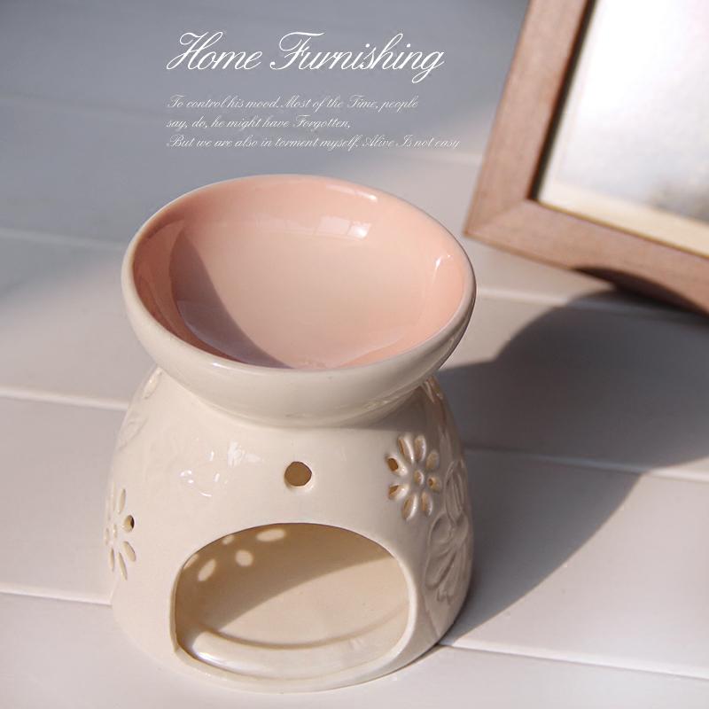 敖世香薰灯精油炉陶瓷大容量美容院浪漫卧室家用创意送蜡烛托蜡烛