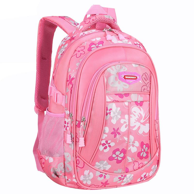 旺豪儿童轻便双肩书包小学生女1-3-4-6年级女孩韩版减负防水背包