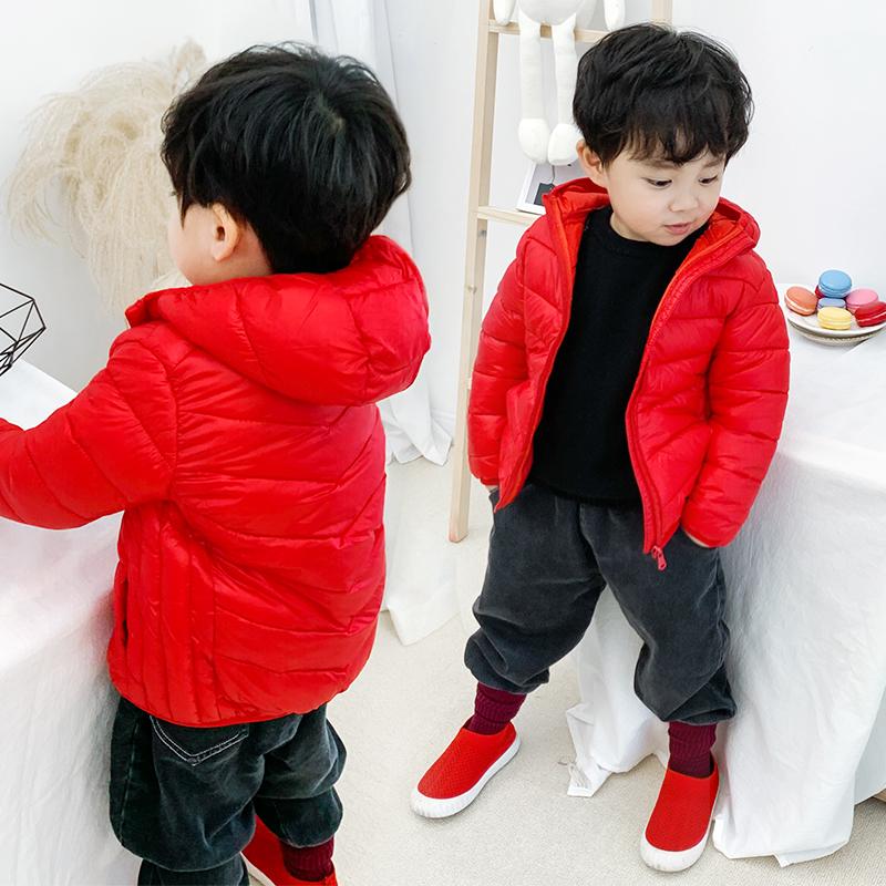 宝宝秋冬外套反季儿童羽绒棉服男童轻薄款女童棉衣小童中大童亲子