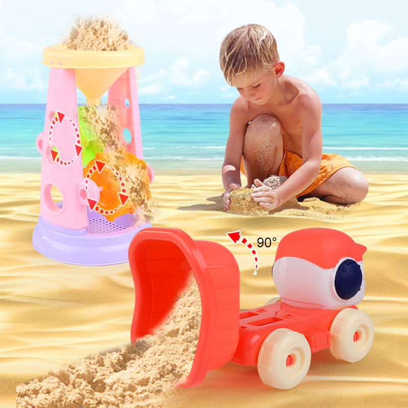 儿童沙滩玩具卡通套装9件套