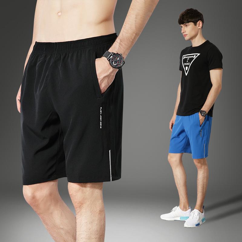运动短裤男跑步健身夏季休闲五分裤薄款速干宽松大码训练篮球短裤