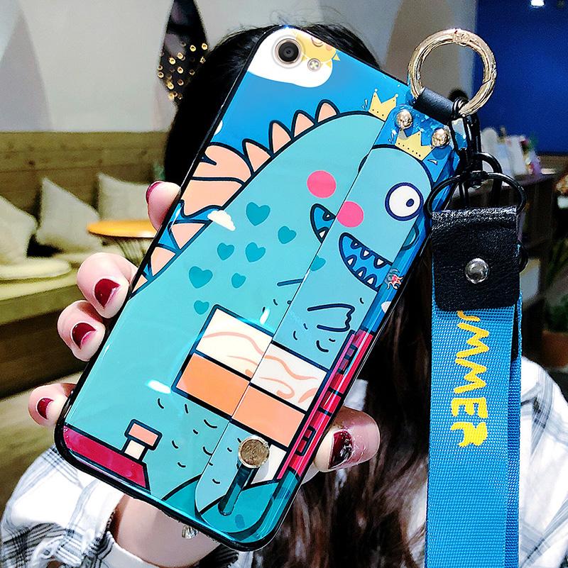 恐龙动物园vivox9手机壳x9s蓝光腕带挂绳x20plus个性创意x21全包防摔x21i硅胶软壳vivox23情侣保护套幻彩版