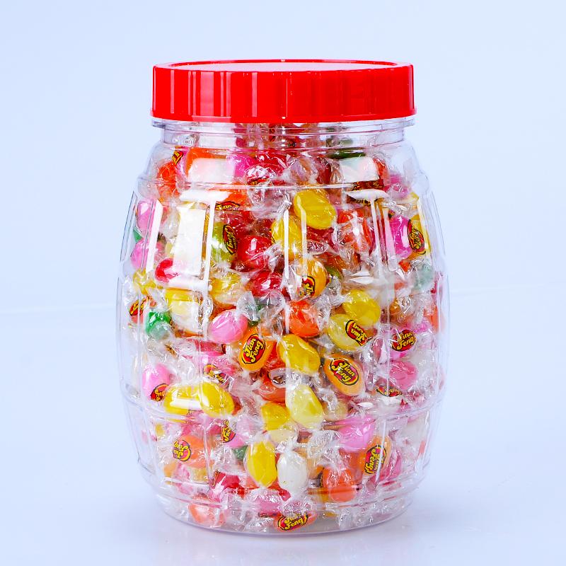 彩虹糖水果软糖儿童水果味七彩糖豆豆彩豆糖吉利豆彩色糖果散装