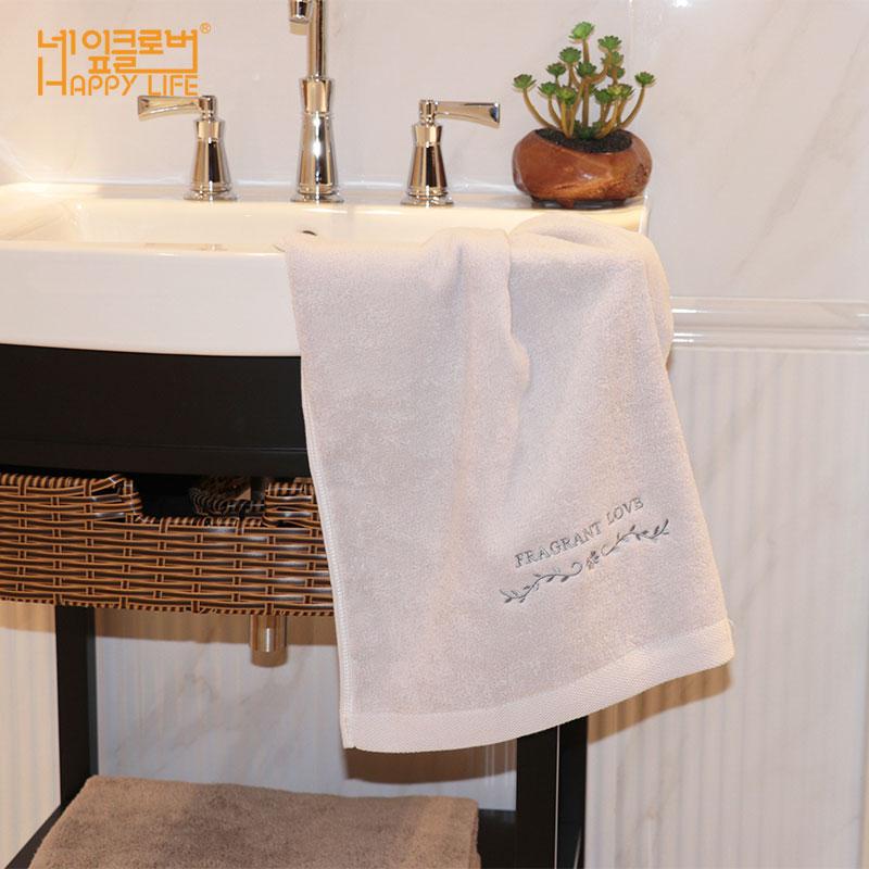 韩国进口毛巾纯棉家用柔软吸水洗脸面巾加长加厚全棉成人洗脸巾