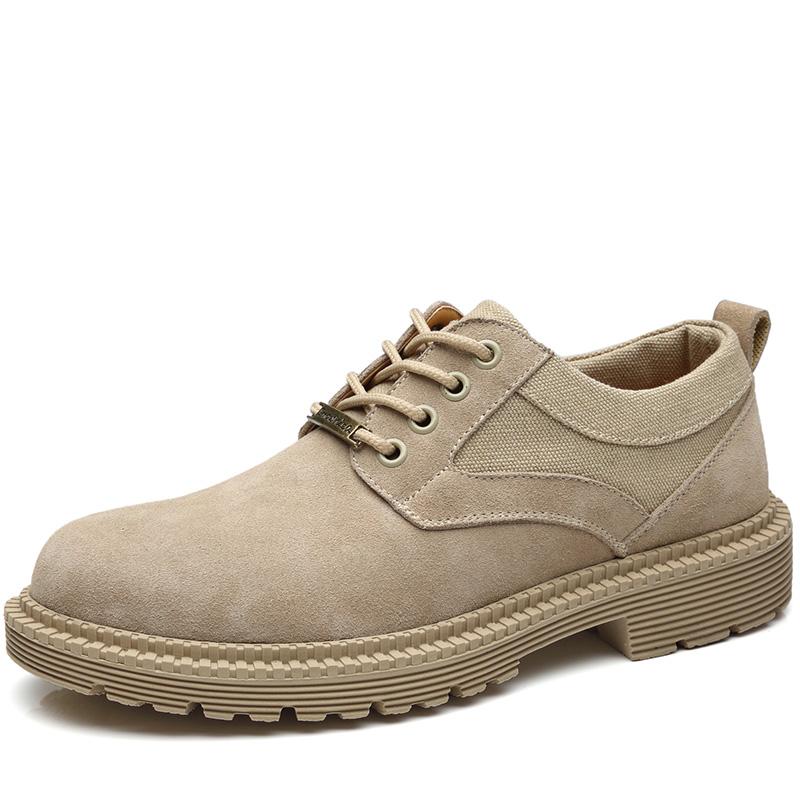 马丁鞋男秋季透气英伦大头工装皮鞋真皮低帮靴子韩版潮流鞋子潮鞋