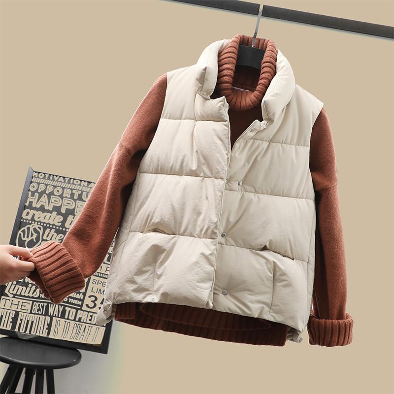 羽绒棉马甲女短款韩版学生2020新款秋冬百搭背心宽松面包棉服坎肩