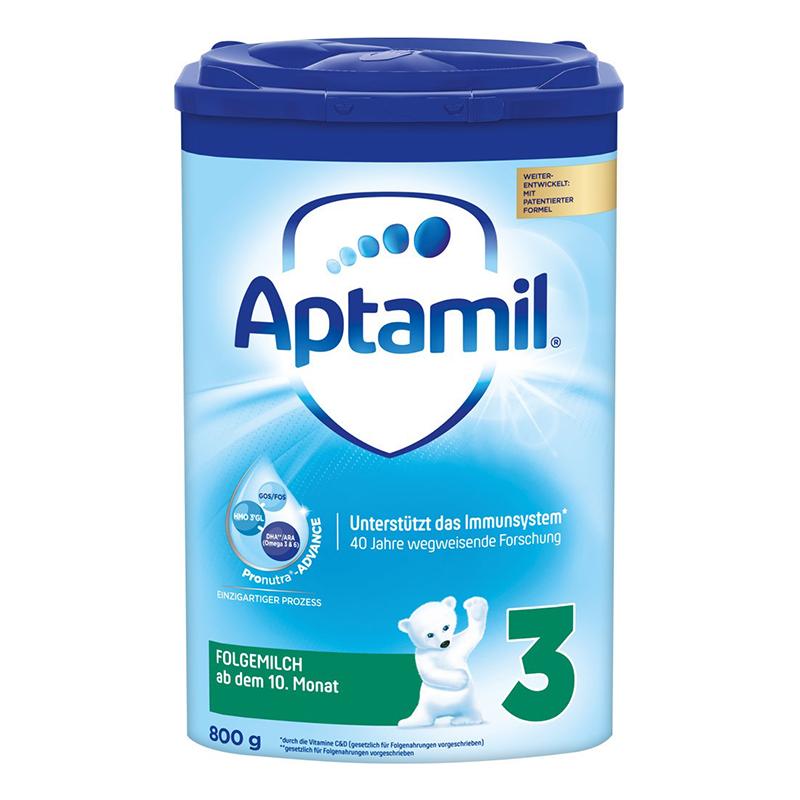 德国原装进口爱他美Aptamil 3段婴幼儿配方奶粉蓝罐800g10-12个月