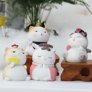 宫廷猫装饰品小摆件女生桌面圣诞节送老师的礼物生日创意同学男生