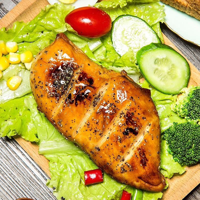 【3袋】即食鸡胸肉健身代餐鸡脯肉饱腹轻食蛋白鸡脯肉零食100g*3