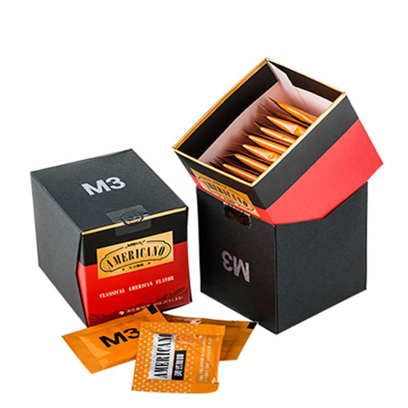 美式纯黑咖啡速溶特浓健身提神苦咖啡粉无糖低脂卡咖啡 4盒共80袋