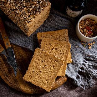 七年五季黑麦全麦面包整箱粗粮早餐无添加蔗糖代餐低脂轻热量吐司