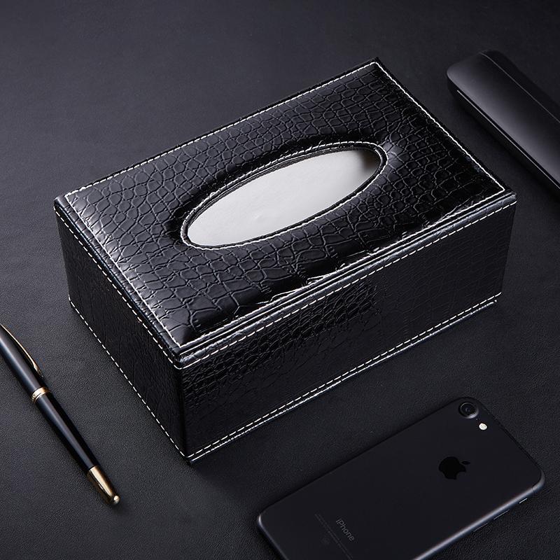 创意高档皮革纸巾盒客厅茶几餐巾抽纸盒汽车纸巾盒车载车用抽纸盒