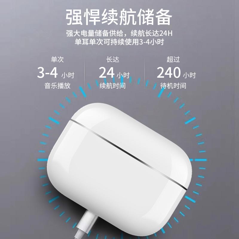 无线蓝牙耳机iPhone跑步运动入耳式隐形安卓通用适用小米苹果华为马卡龙2021年新款pro主动降噪ANC超长待机