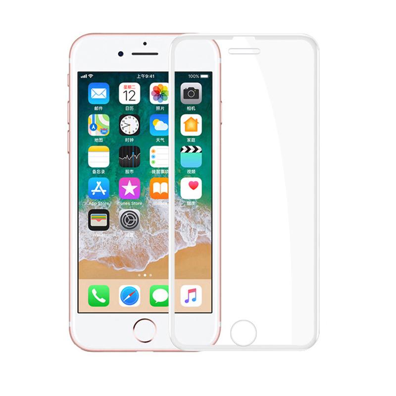 苹果X钢化膜iPhoneX全屏覆盖黑边iPhoneXR包边iPhone6/6s/7/8/7P/8P/6sPlus 抗指纹iphoneXS max手机保护贴膜