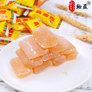 翰盈山东特产高粱饴软糖老式包装怀旧小零食高粱口味散装软糖