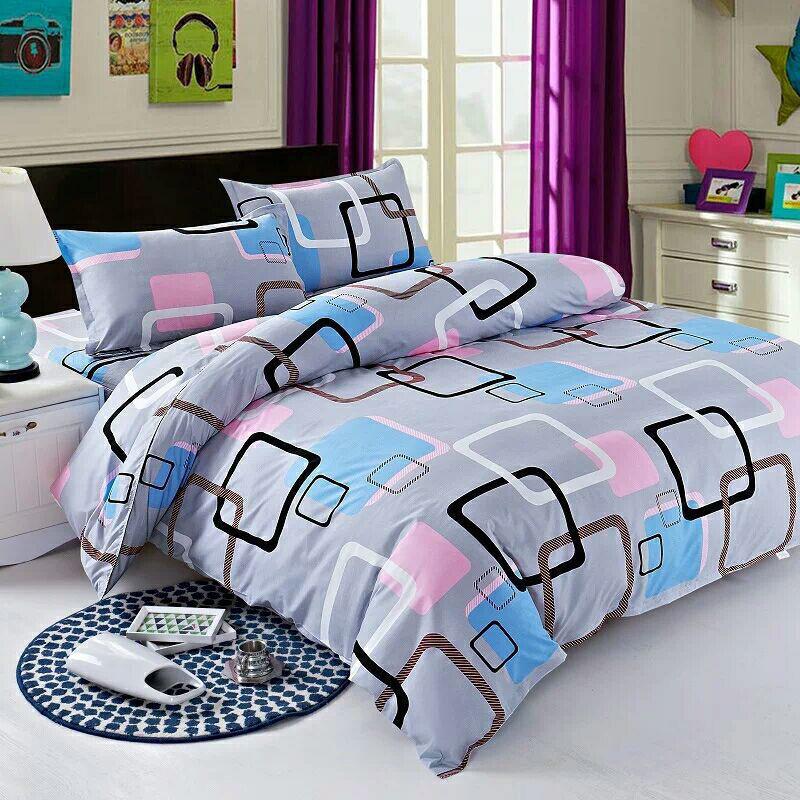 【被套+2枕套+四件套】被套单件双人被罩床上用品褥罩家纺三件套