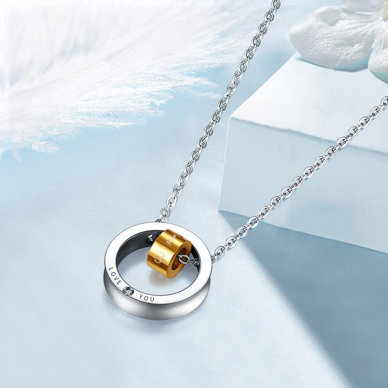 花好玉缘钻石项链套链女款 1314钻石吊坠配项链锁骨链 送女友礼物