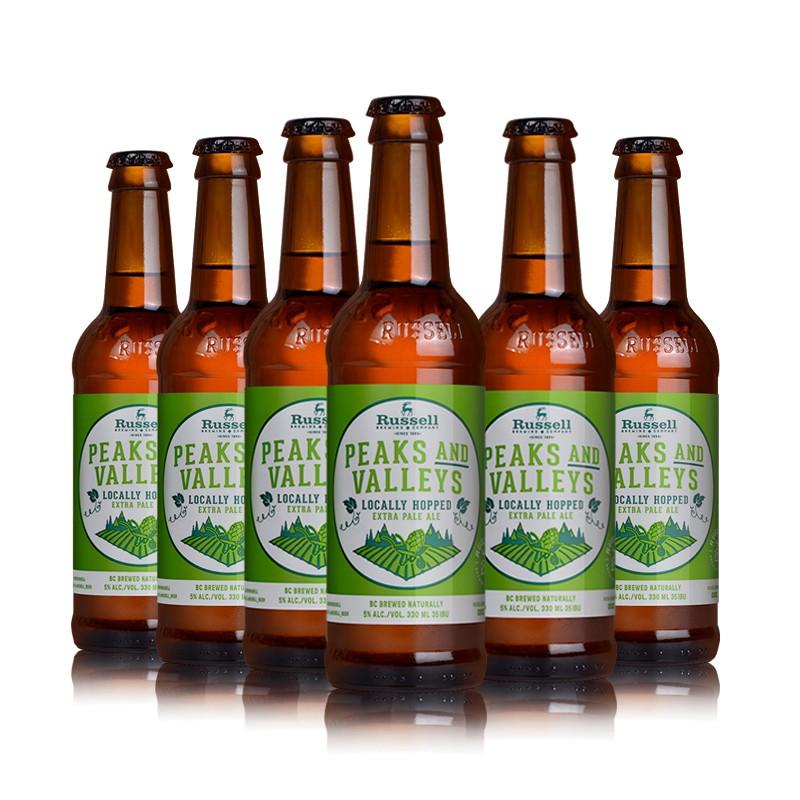 加拿大 罗塞尔 Russell 进口精酿啤酒 山峰与山谷 330ML*6瓶啤酒