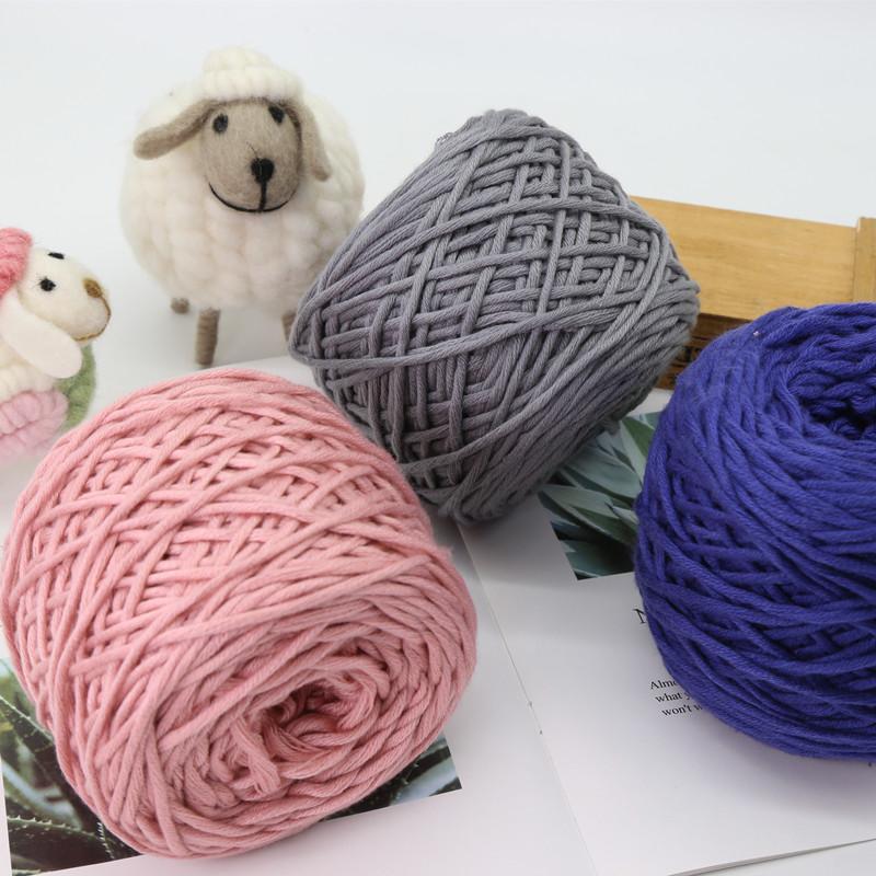 rlk织围巾毛线手工diy粗棒针线编织围巾材料包送男女友多股棉线团