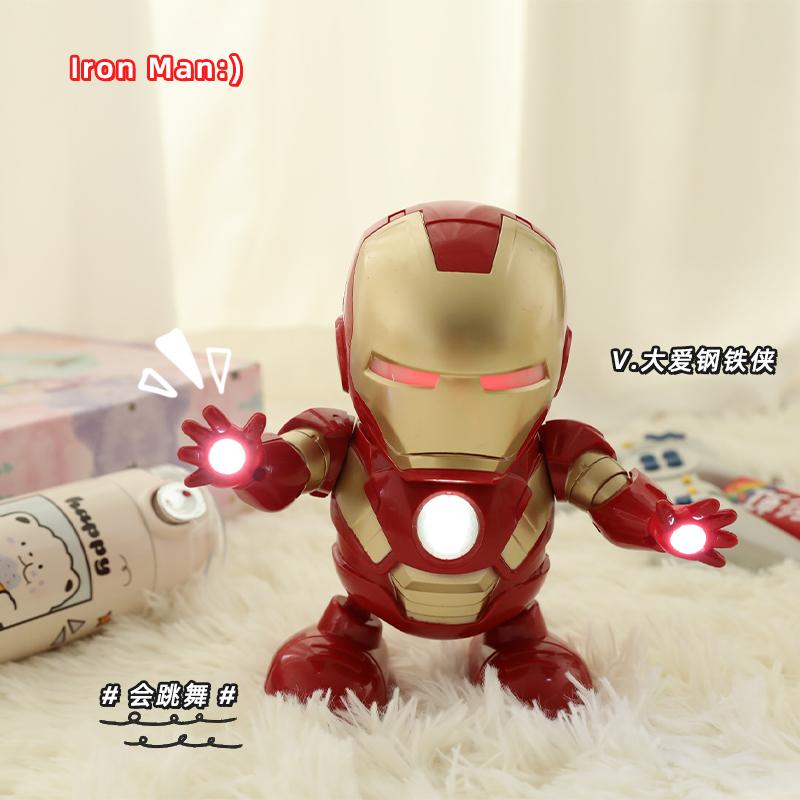 鬼马创意 跳舞钢铁侠机器人玩具