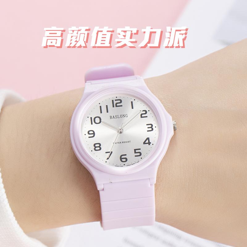 石英表潮流ins学院风全自动超薄防水简约小巧女学生休闲石英手表