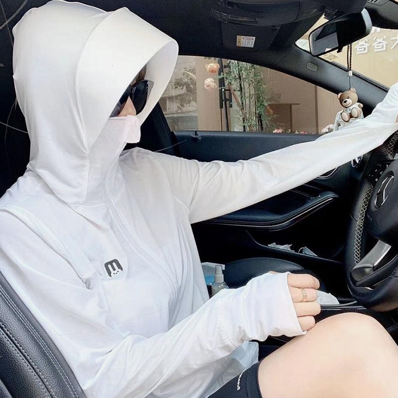 防晒衣女长袖外套2021年新款薄款透气百搭韩版洋气ins潮防晒服夏