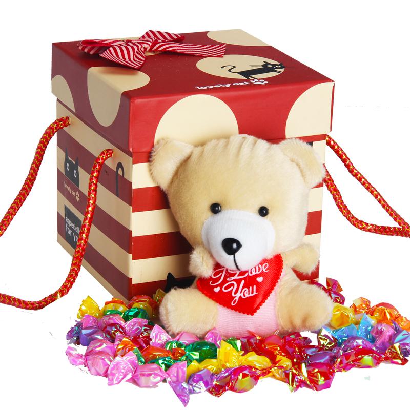 情人节糖果零食大礼包千纸鹤礼盒送男女朋友新年生日礼物