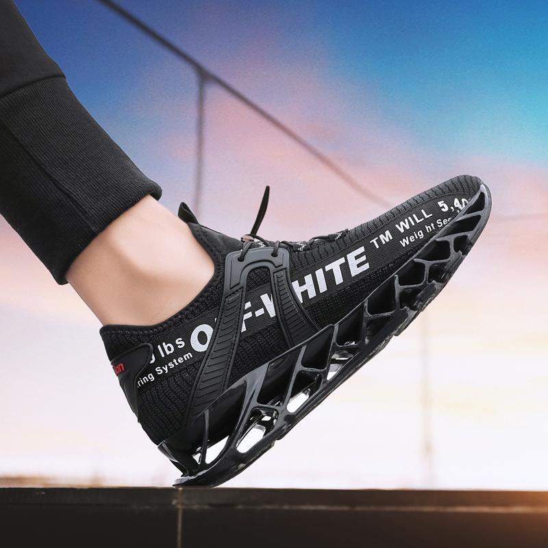 男鞋潮鞋2019新款秋季网红飞织网面减震跑步鞋小白鞋男潮鞋小红鞋