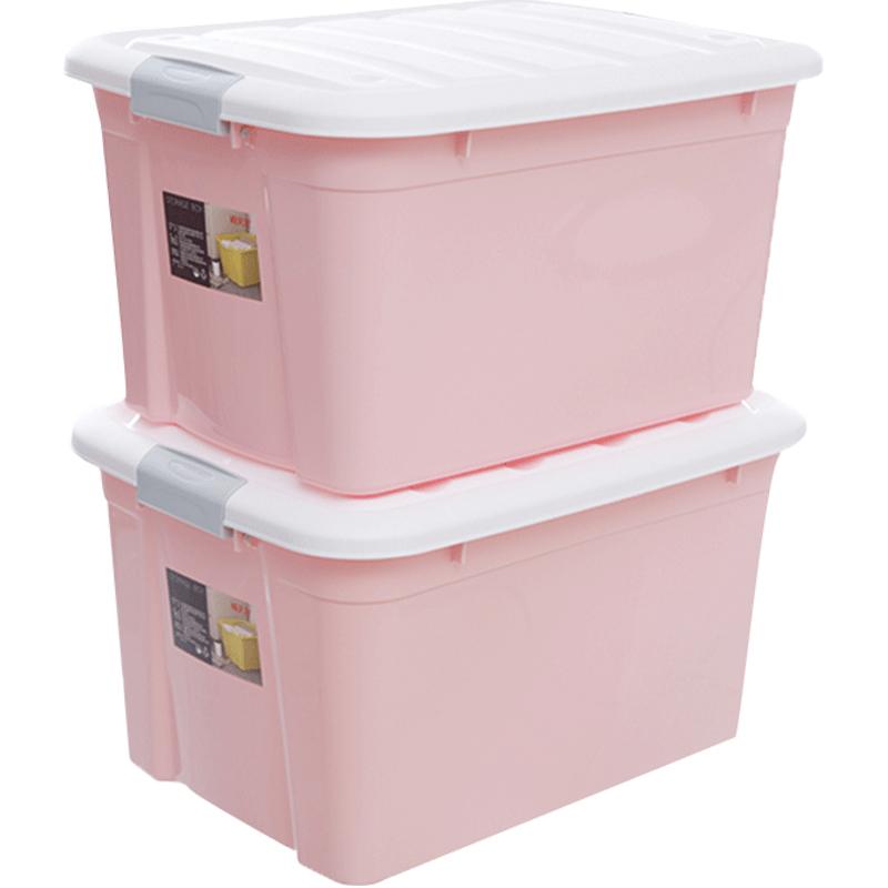 禧天龙收纳箱家用塑料特大号衣服玩具收纳盒储物箱整理箱加厚带轮