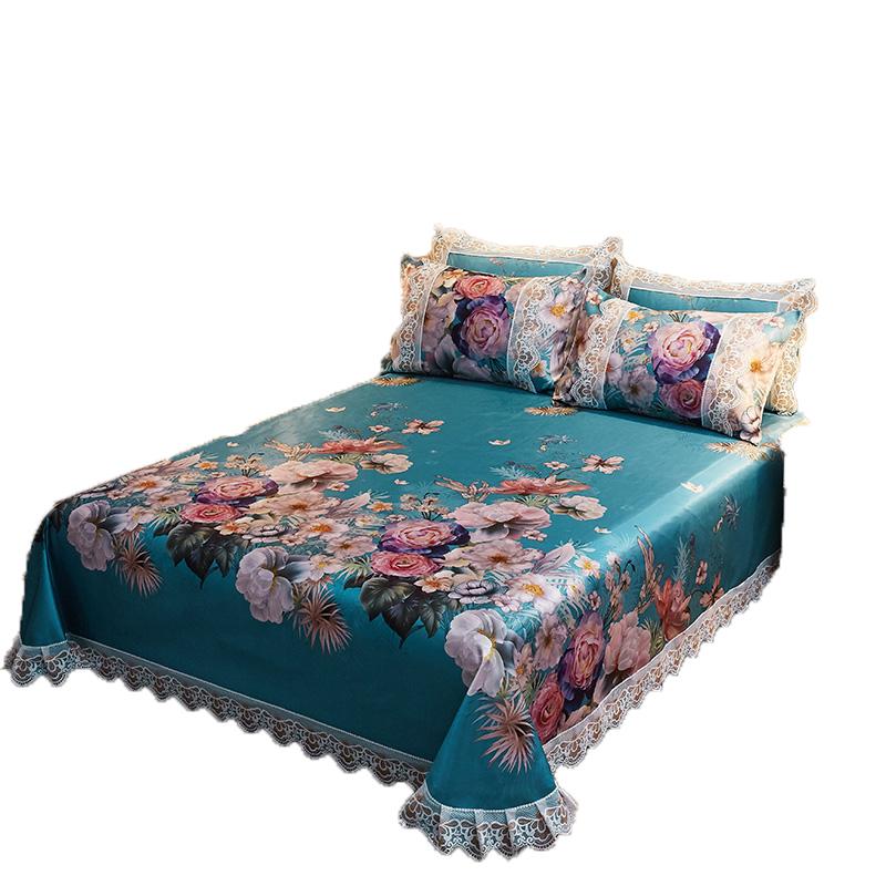 空调软席夏季冰丝凉席床单三件套1.8米双人单人婴儿童可折叠水洗