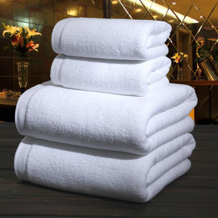 五星级酒店宾馆纯棉浴巾白色柔软美容院全棉成人加大加厚毛巾批发