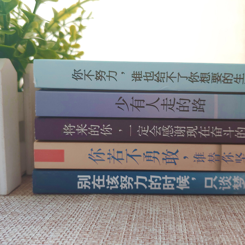全套5册你不努力谁也给不了你想要的生活没人能将来的你若不勇敢少有人走的路别在吃苦的年纪选择安逸青少年本青春励志书籍畅销书