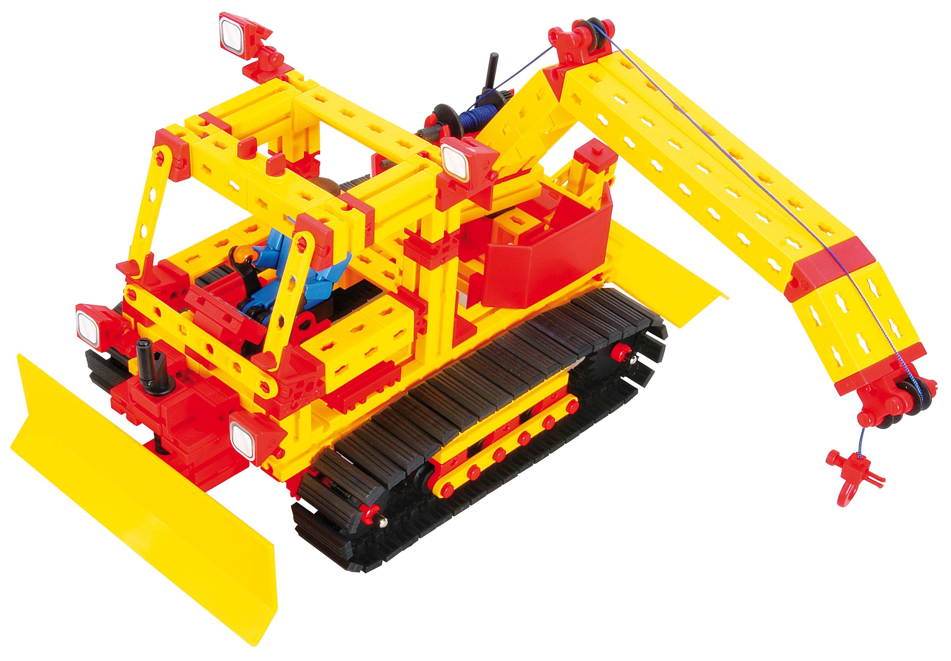 慧鱼fischertechnik拼装积木玩具模型推土机亲子玩具图片