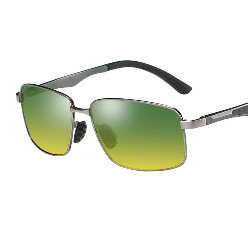 日夜两用太阳镜偏光墨镜户外专用眼镜开车驾驶镜方形防远光灯眼镜