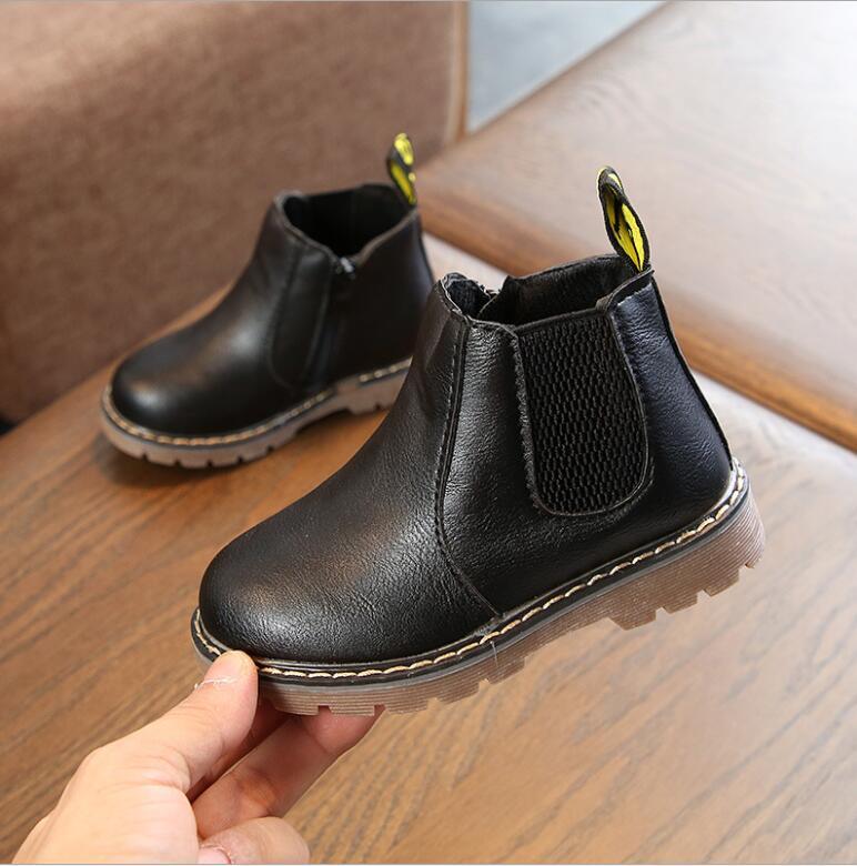 女童马丁靴2019秋季新款英伦风童鞋加绒加厚冬季小孩保暖儿童靴子